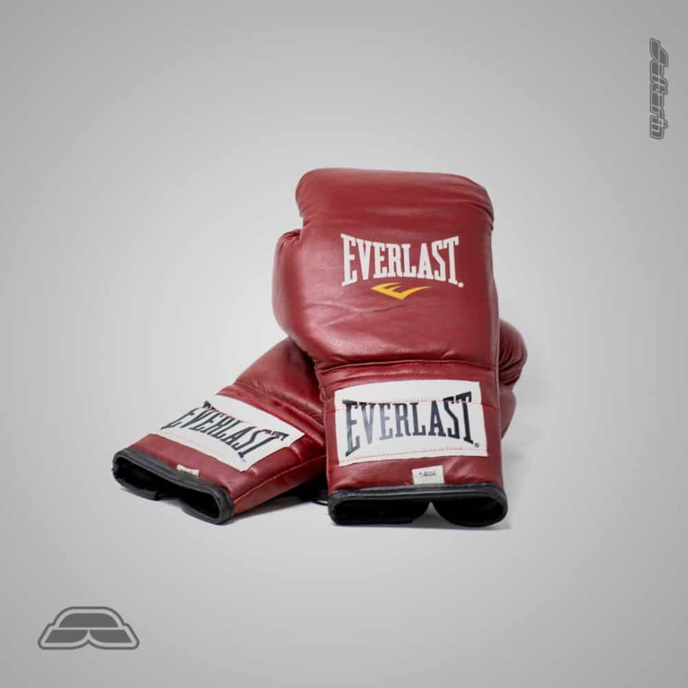 Guantes de Box de cuero Everlast 14oz - Rojo